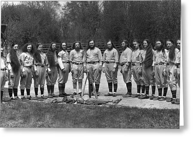 House Of David Baseball Team Greeting Card by Underwood Archives