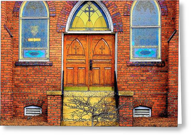 House Of God Greeting Card by Rodney Lee Williams
