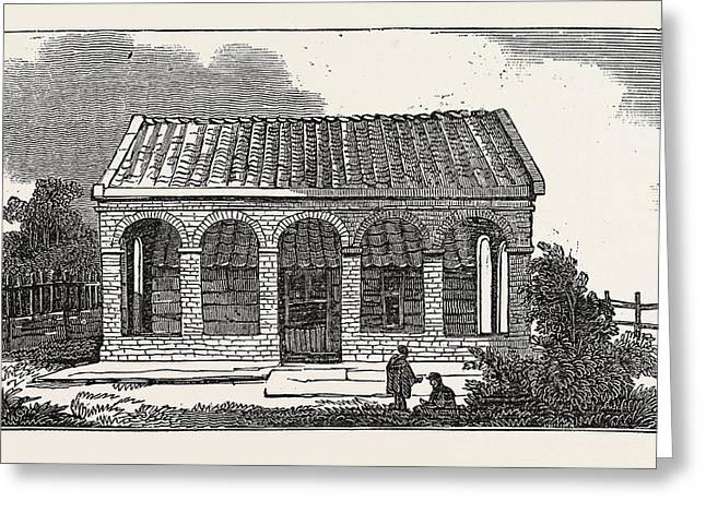 House Of Peter The Great, At Saardam Or Zaandam Greeting Card by Dutch School