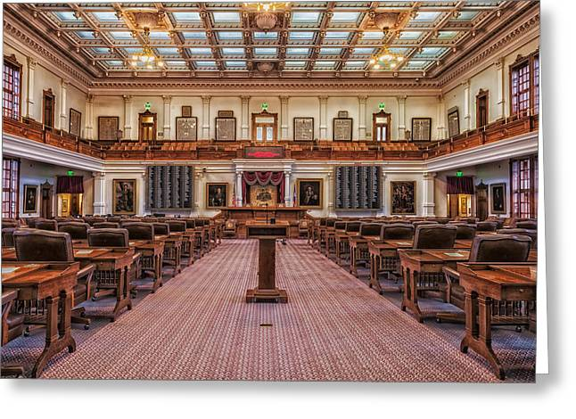 House Of Representatives - Texas State Capitol Greeting Card by Mountain Dreams