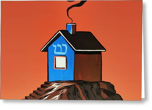 House On A Hill Greeting Card by Steven Michael