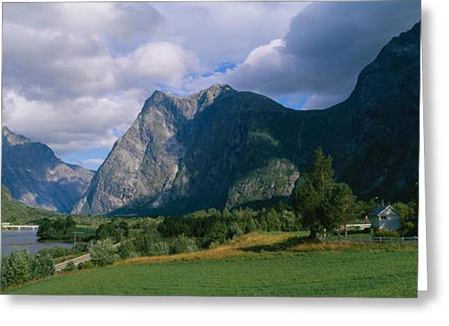 House On A Mountainside, Marstein Greeting Card by Panoramic Images