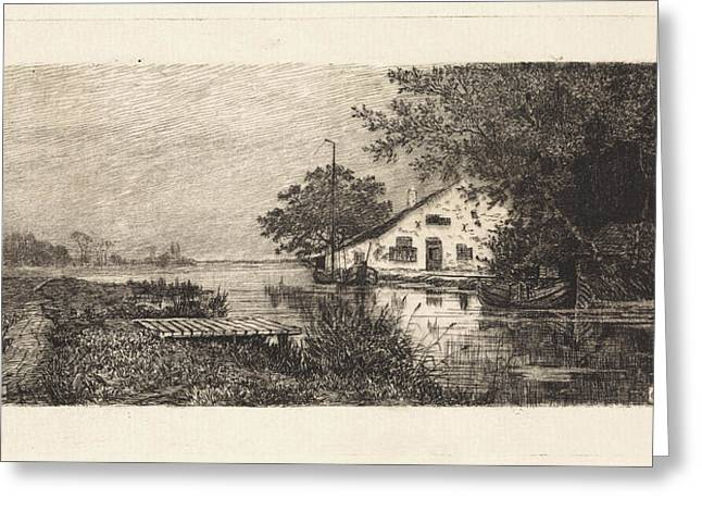 House On A River Abcoude The Netherlands Greeting Card by Quint Lox