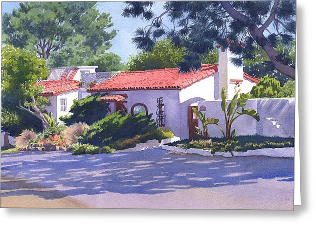 House On Crest Del Mar Greeting Card