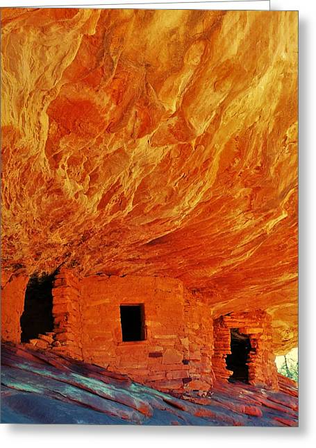 House On Fire Greeting Card