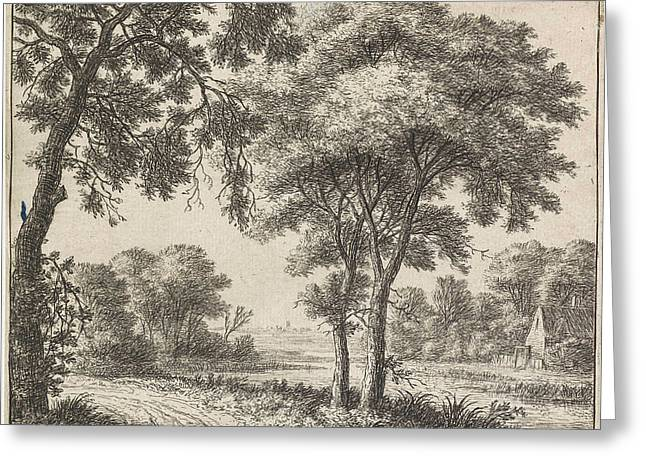 House On The Banks Of A River, Anthonie Waterloo Greeting Card