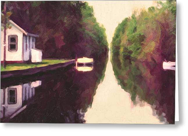 House On The C And O Canal Greeting Card by Spyder Webb
