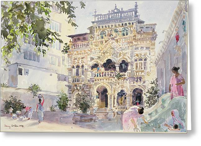 House On The Hill, Bombay Greeting Card by Lucy Willis