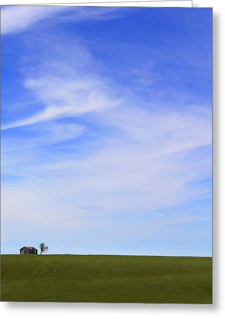 House On The Hill Greeting Card by Mike McGlothlen