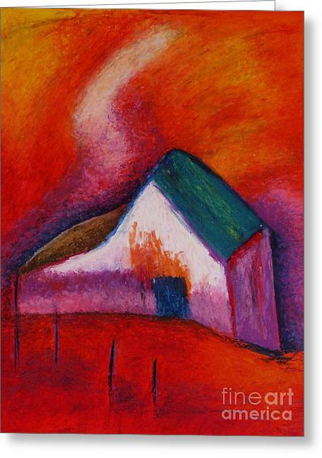 House On The Hillside Greeting Card