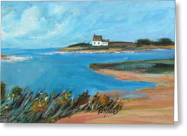 House On The Point Greeting Card by Betty Pieper