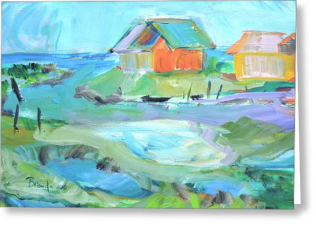 Inlet At Salt Ponds  Greeting Card by Brenda Ruark