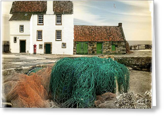 House On The Quay Greeting Card by Edmund Nagele