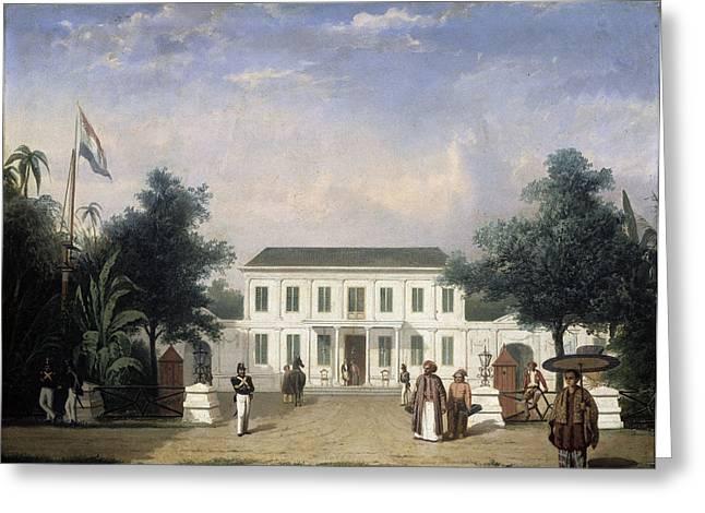 House On The Rijswijk, Batavia, Jalan Veteran Jakarta Greeting Card by Litz Collection