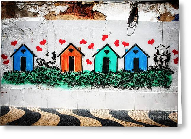 House On The Wall Greeting Card by John Rizzuto