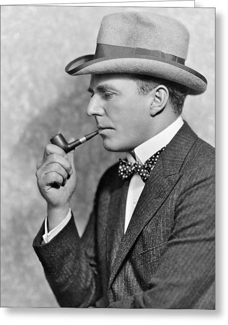 House Peters Smoking A Pipe Greeting Card
