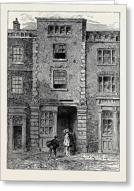 House Said To Have Been Occupied By Dryden In Fetter Lane Greeting Card