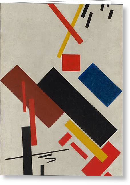 House Under Construction Greeting Card by Kazimir Malevich