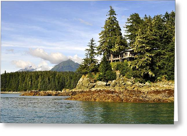 Greeting Card featuring the photograph House Upon A Rock by Cathy Mahnke