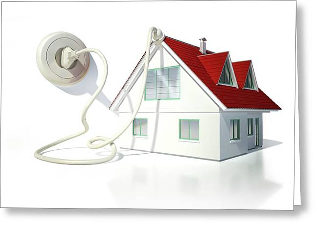 House With An Electrical Socket Greeting Card by Leonello Calvetti