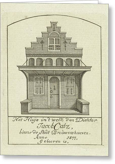 House With Gable, Jan Caspar Philips Greeting Card by Jan Caspar Philips