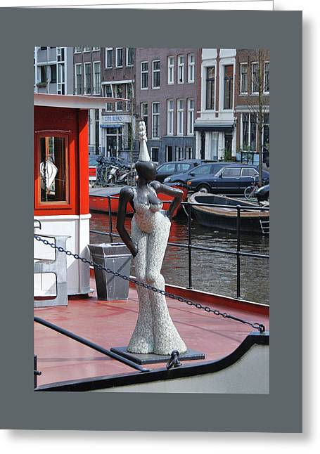 Greeting Card featuring the photograph Houseboat Chanteuse by Allen Beatty