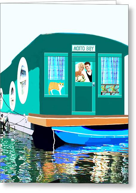 Houseboat Greeting Card by Marian Cates