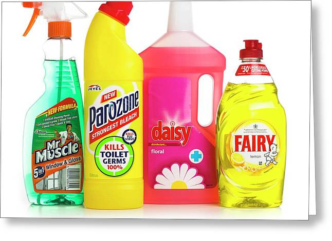 Household Cleaning Products Greeting Card