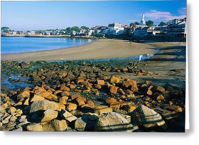 Houses Along The Beach, Rockport Greeting Card