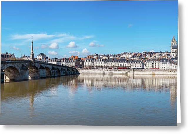 Houses In A Town, Blois, Loire-et-cher Greeting Card