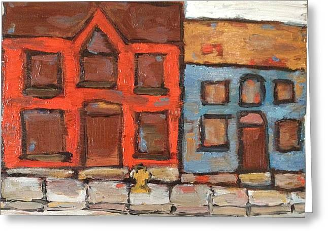 Houses In Portsmouth Greeting Card by David Dossett