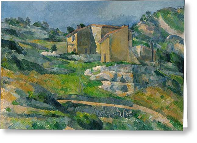 Houses In Provence Greeting Card by Paul Cezanne