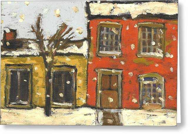 Houses In Sydenham Ward Greeting Card by David Dossett