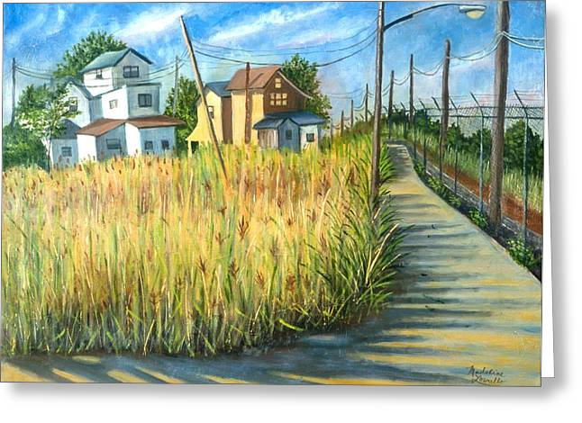 Houses In The Weeds Greeting Card