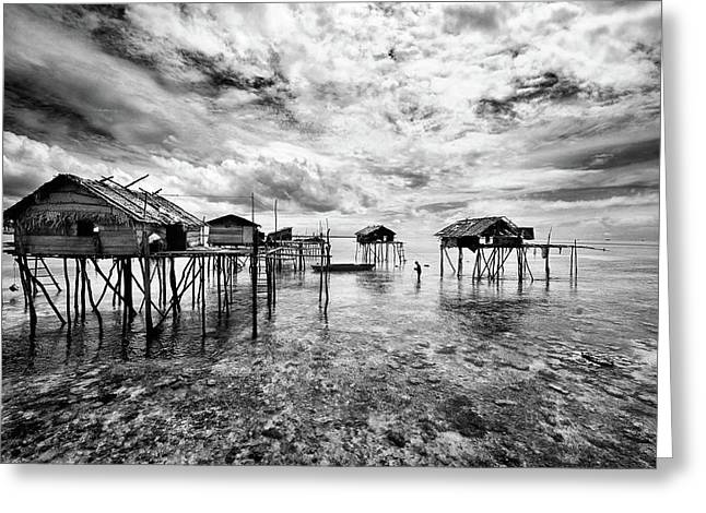 Houses  Of  The  Bajau Greeting Card by Andreas Kosasih