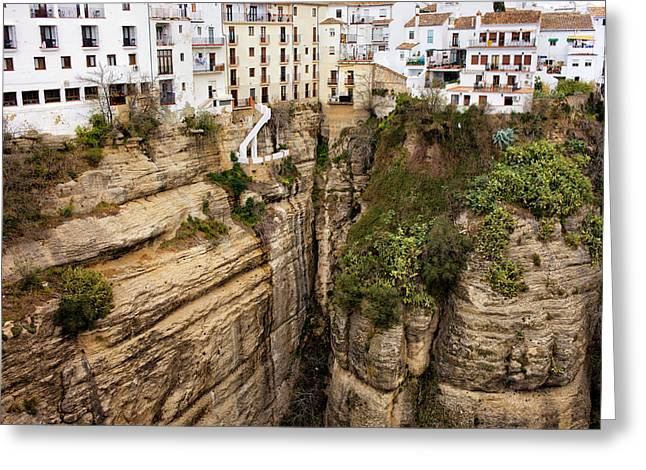 Houses On A Rock In Ronda Greeting Card by Artur Bogacki