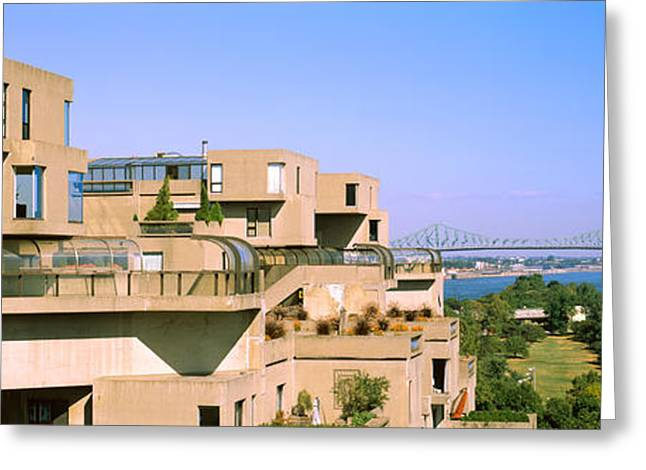 Housing Complex With A Bridge Greeting Card by Panoramic Images