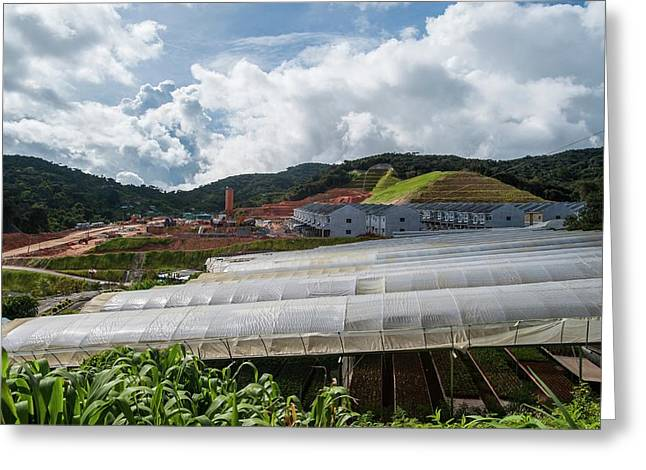 Housing Development And Farms Greeting Card by Scubazoo
