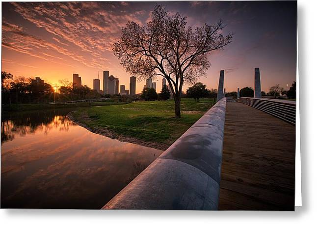 Houston Dawn Greeting Card