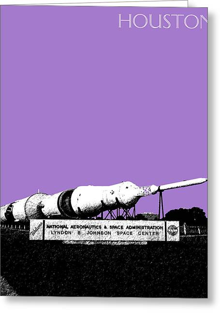 Houston Johnson Space Center - Violet Greeting Card by DB Artist