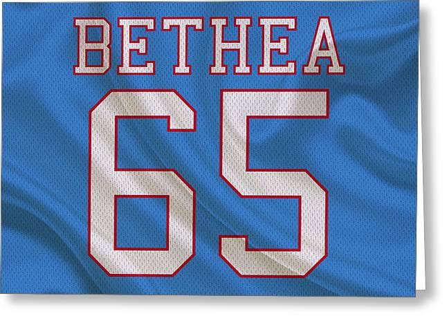 Houston Oilers Elvin Bethea Greeting Card by Joe Hamilton