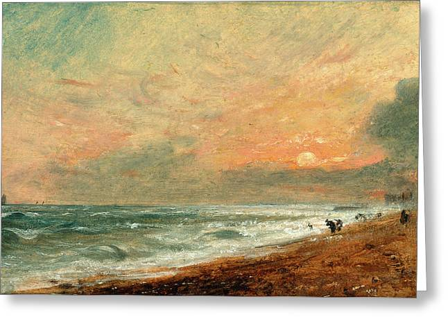 Hove Beach, John Constable, 1776-1837 Greeting Card by Litz Collection