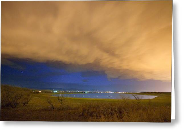 Hovering Stormy Weather Greeting Card by James BO  Insogna