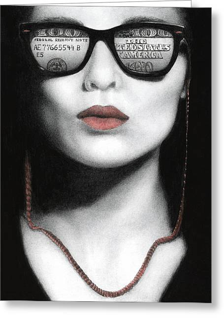 How Do I Love Thee...let Me Count Your Money Greeting Card by Pat Erickson