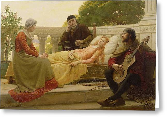How Liza Loved The King, 1890 Greeting Card by Edmund Blair Leighton