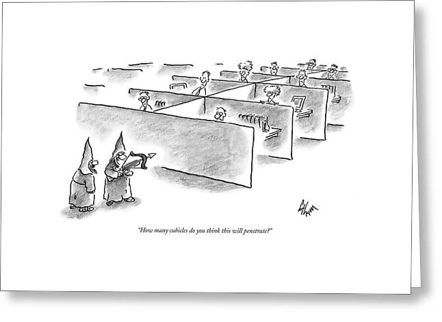 How Many Cubicles Do You Think This Greeting Card by Frank Cotham