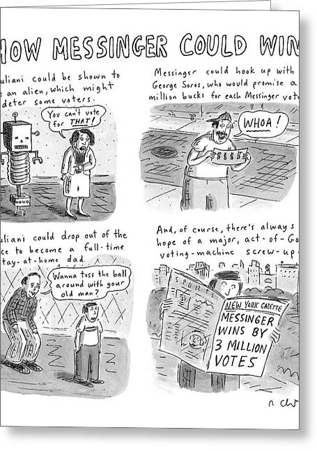 How Messinger Could Win Greeting Card by Roz Chast