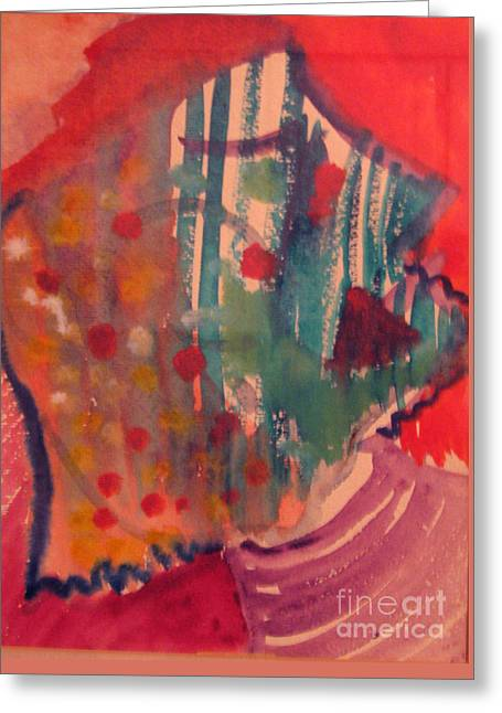 How Much I Loved You Original Contemporary Modern Abstract Art Painting Greeting Card