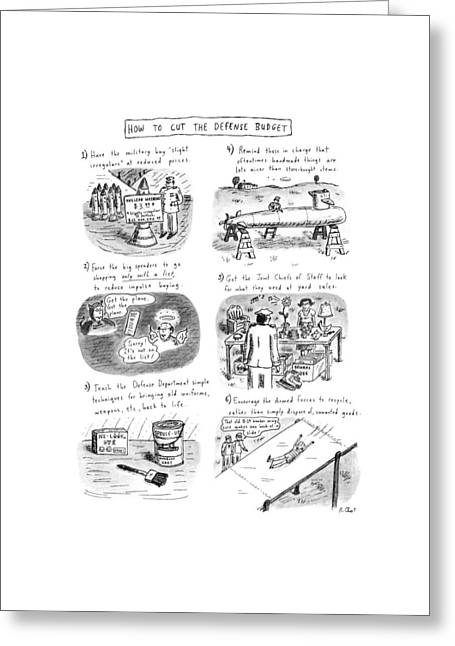 How To Cut The Defense Budget Greeting Card by Roz Chast