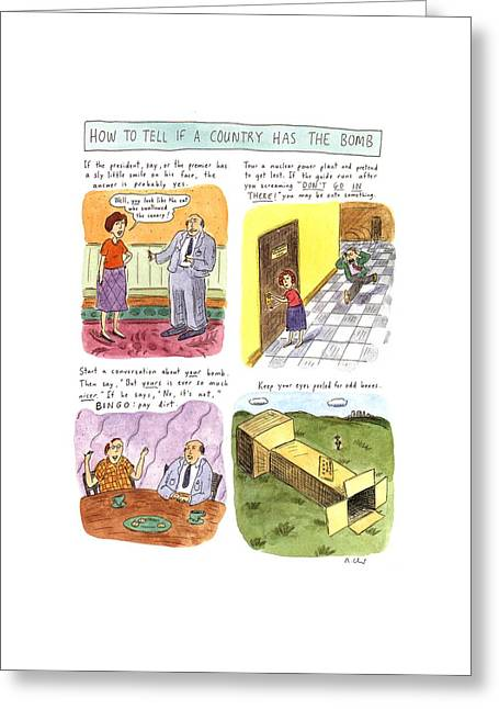 How To Tell If A Country Has The Bomb Greeting Card by Roz Chast